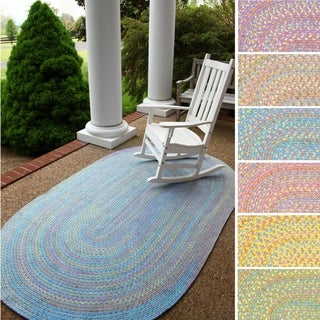 Playful Indoor / Outdoor Reversible Braided Rug by Rhody Rug, 4 ft x 6 ft