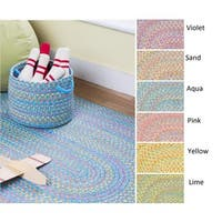 Playful Indoor / Outdoor Reversible Braided Rug by Rhody Rug, 10 ft x 13 ft - 10' x 13'