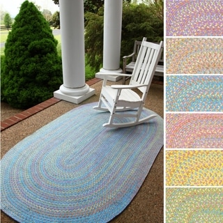 Playful Indoor / Outdoor Reversible Braided Rug by Rhody Rug, 7 ft x 9 ft - 7' x 9'