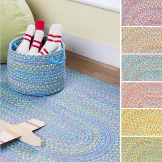 Playful Indoor / Outdoor Reversible Accent Rug by Rhody Rug, 2 ft x 4 ft