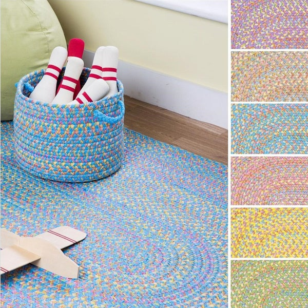 Playful Indoor / Outdoor Reversible Accent Rug by Rhody Rug, 2 ft x 4 ft - 2' x 4'