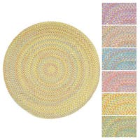 Playful Indoor / Outdoor Reversible Round Braided Rug (6')