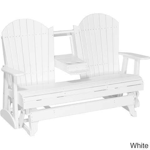 Outdoor 5' Adirondack Porch Glider Bench - Recycled Plastic