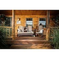 Poly Outdoor 5 Foot Adirondack Porch Glider Bench