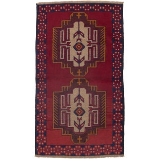 ecarpetgallery Hand-Knotted Kazak Red  Wool Rug (3'5 x 5'11)