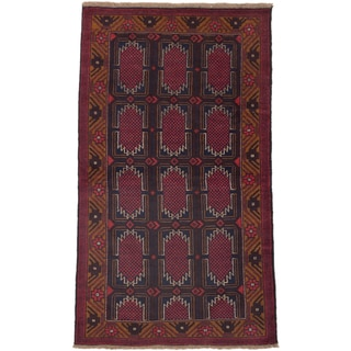 ecarpetgallery Hand-Knotted Bahor Blue  Wool Rug (3'6 x 6'3)