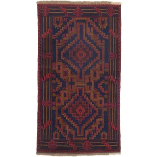 ecarpetgallery Hand-Knotted Baluch Blue  Wool Rug (3'6 x 6'4)