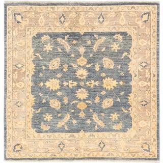 ecarpetgallery Hand-Knotted Peshawar Oushak Blue Wool Rug (5'1 x 5'1)