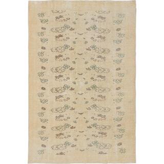 ecarpetgallery Hand-Knotted Anatolian Sunwash Yellow Wool Rug (6'10 x 10'2)
