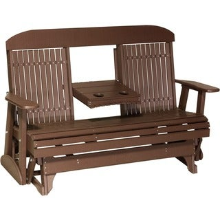 Poly Outdoor 5 Foot Highback Porch Glider Bench (More options available)