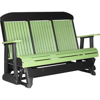 Poly Outdoor 5 Foot Highback Porch Glider Bench
