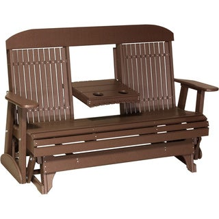 Link to Poly Outdoor 5 Foot Highback Porch Glider Bench Similar Items in Patio Furniture