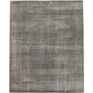 ecarpetgallery Hand-Knotted Color Transition Grey Wool Rug (6'11 x 8'4)