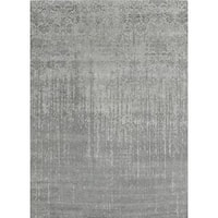 Pasargad's Transitional Silver Bamboo Silk/Wool Area Rug (6' x 8'11)