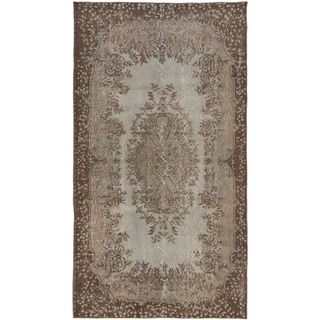 ecarpetgallery Hand-Knotted Color Transition Brown, Grey Wool Rug (3'8 x 6'10)