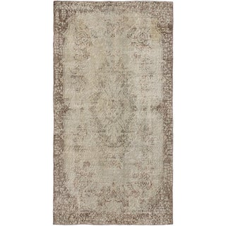 ecarpetgallery Hand-Knotted Color Transition Grey Wool Rug (3'9 x 7'1)