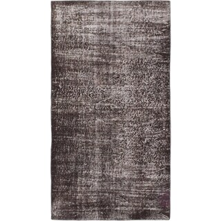 ecarpetgallery Hand-Knotted Color Transition Black Wool Rug (3'2 x 5'9)