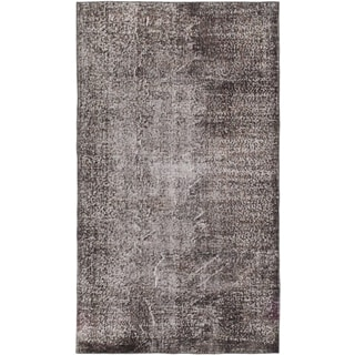 ecarpetgallery Hand-Knotted Color Transition Black Wool Rug (3'10 x 6'9)