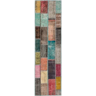 ecarpetgallery Hand-Knotted Color Transition Patch Multi Wool Rug (2'8 x 9'7)