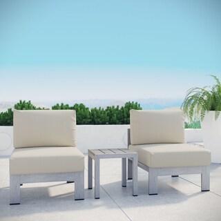 Shore Aluminum Outdoor Sectional Sofa Set of 3