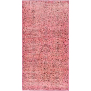 ecarpetgallery Hand-Knotted Color Transition Pink Wool Rug (3'5 x 6'7)