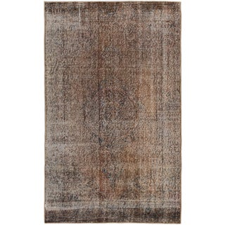 ecarpetgallery Hand-Knotted Color Transition Brown Wool Rug (3'10 x 6'3)
