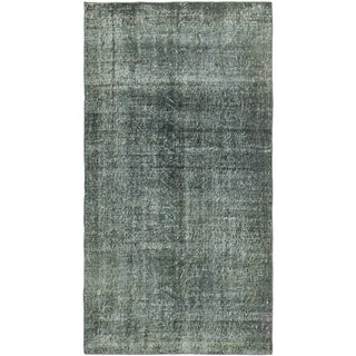 ecarpetgallery Hand-Knotted Color Transition Green  Wool Rug (3'6 x 6'9)