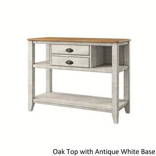 Eleanor Open Shelf Two-Tone Wood Buffet Server by iNSPIRE Q Classic