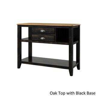 Eleanor Open Shelf Two-Tone Wood Buffet Server by TRIBECCA HOME