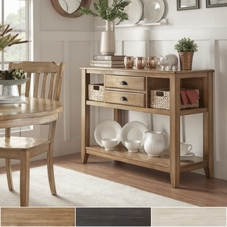 Eleanor Open Shelf Two-Tone Wood Buffet Server by TRIBECCA HOME