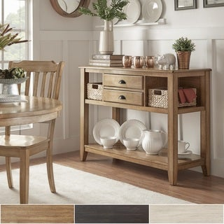 Eleanor Open Shelf Two-Tone Wood Buffet Server by iNSPIRE Q Classic