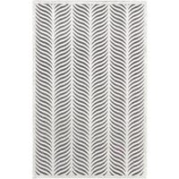ecarpetgallery Lagos Grey  Viscose Rug (7'7 x 10'6)