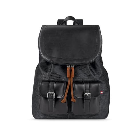 Solo Bridge Hampton Flapover Vinyl 13.3-inch Laptop Backpack