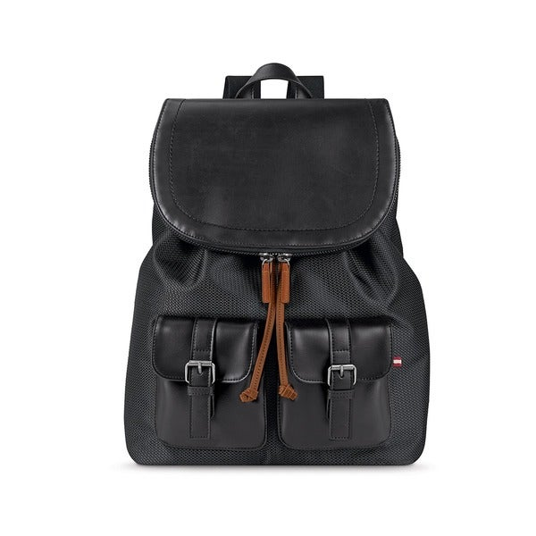 Solo Bridge Hampton Flapover Vinyl 13.3-inch Laptop Backpack. Opens flyout.
