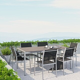 Shore Aluminum Outdoor Dining Set of 7