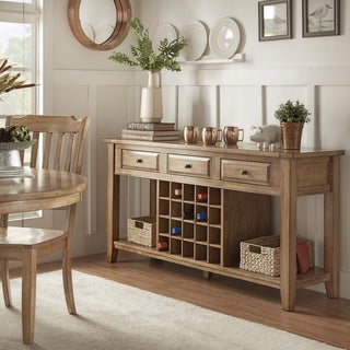 Eleanor Two-Tone Wood Wine Rack Buffet Server by TRIBECCA HOME