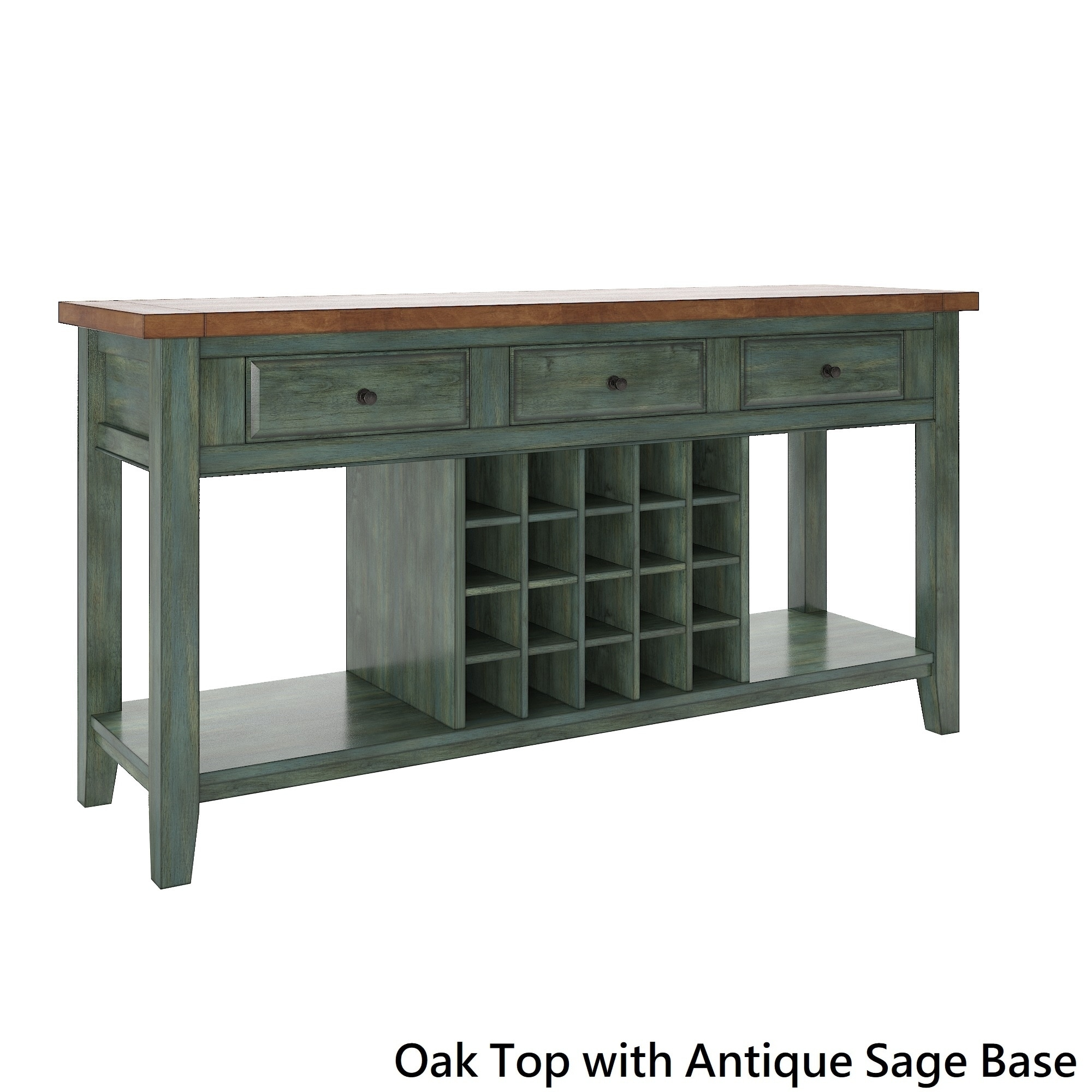 Picture of: Major Q Modern Espresso Finish Wooden Wine Rack Cabinet Server Console Table With Shelves Buffets Sideboards