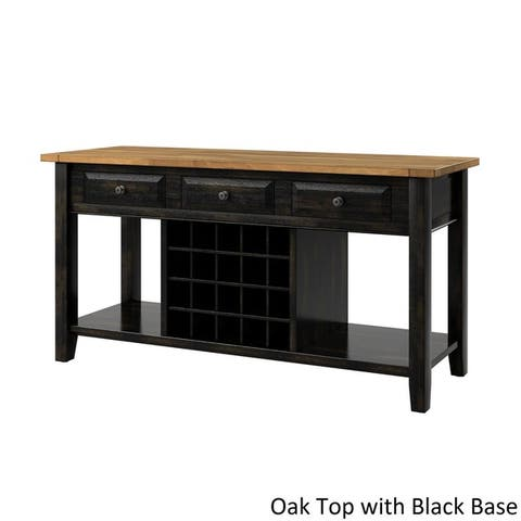 Eleanor Two-Tone Wood Wine Rack Buffet Server by iNSPIRE Q Classic