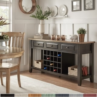 Link to Eleanor Two-Tone Wood Wine Rack Buffet Server by iNSPIRE Q Classic Similar Items in Dining Room & Bar Furniture