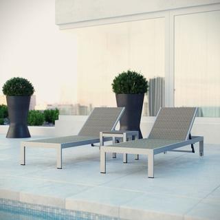 Shore Aluminum Outdoor Chaise Set of 3