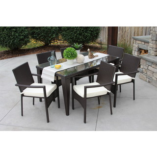 7PC Baker Set - Outdoor All Weather Rattan Wicker Patio Garden Brown DIning Set