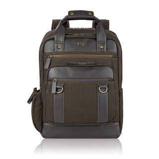 Solo Bradford Brown Cotton and Vinyl 15.6-inch Laptop Backpack