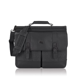 Solo Bradford Black Fabric and Polyester 15.6-inch Laptop Briefcase