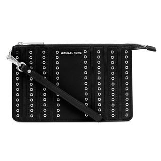 Michael Kors Medium Brooklyn Grommet Black Wristlet