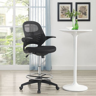 Modway Black Advance Drafting Stool