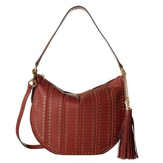 Michael Kors Suede Medium Convertible Brick Hobo Handbag
