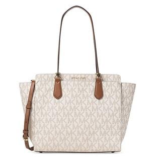 Michael Kors Dee Dee Large Signature Convertible Vanilla Tote Handbag