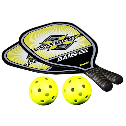 Franklin Sports Pro Paddle and Ball Set - Blue Black Optic Yellow - One size
