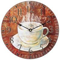 La Crosse 404-2631C 12 inch Round Coffee Decor Analog Wall Clock