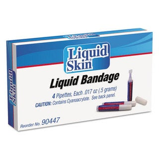 PhysiciansCare by First Aid Only Liquid Bandage, 0.017 oz Pipette, 4/Box